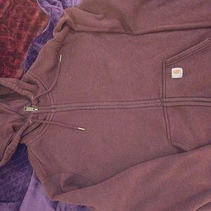 Women's purple Carhartt full zip XXL